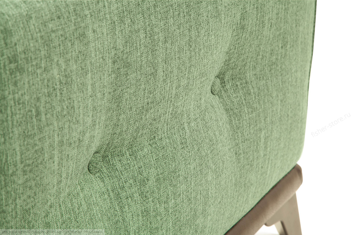 Прямой диван Джерси-5 с опорой №4 Orion Green Текстура ткани