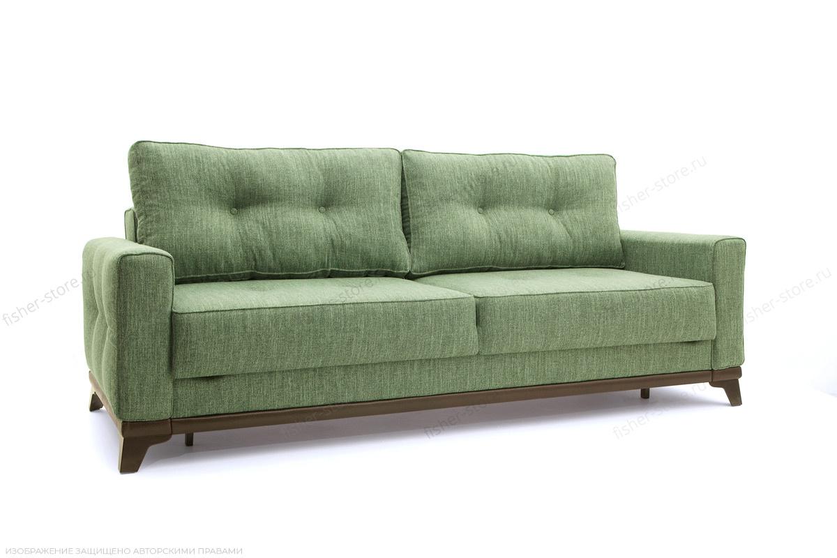 Прямой диван Джерси-5 с опорой №4 Orion Green Вид по диагонали