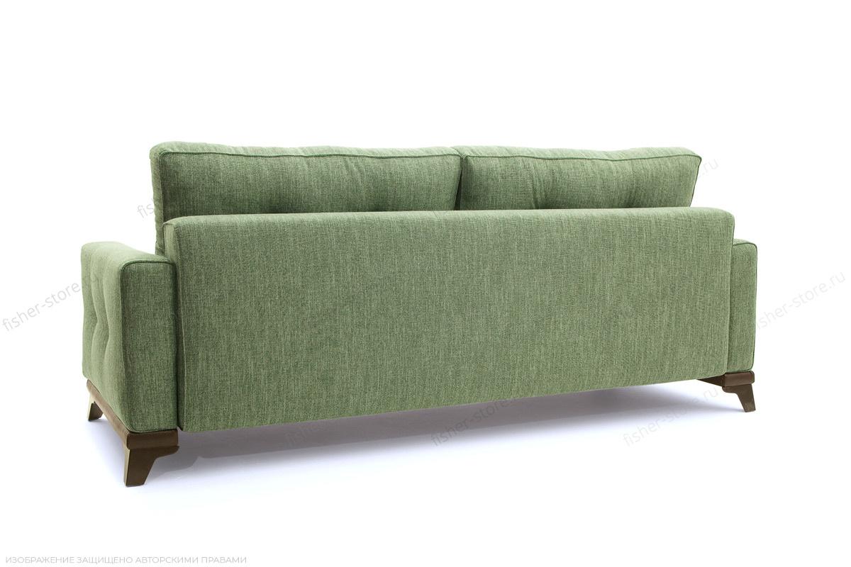 Прямой диван Джерси-5 с опорой №4 Orion Green Вид сзади