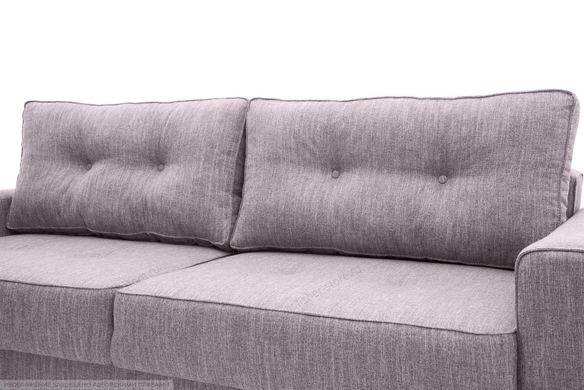Прямой диван Джерси-5 с опорой №4 Orion Lilac Подушки