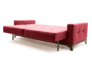 Прямой диван еврокнижка Джерси-5 с опорой №4 Orion Red Спальное место
