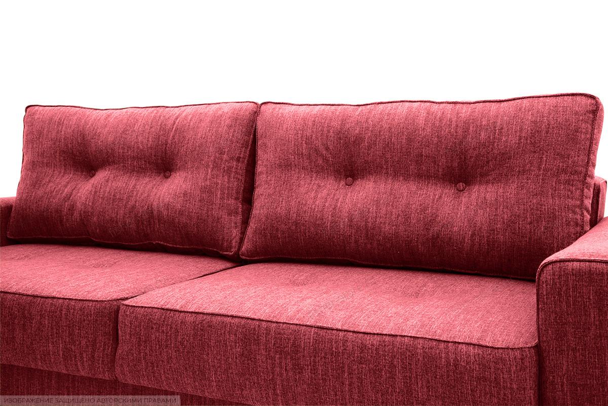 Прямой диван еврокнижка Джерси-5 с опорой №4 Orion Red Подушки