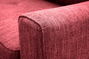 Прямой диван еврокнижка Джерси-5 с опорой №4 Orion Red Подлокотник