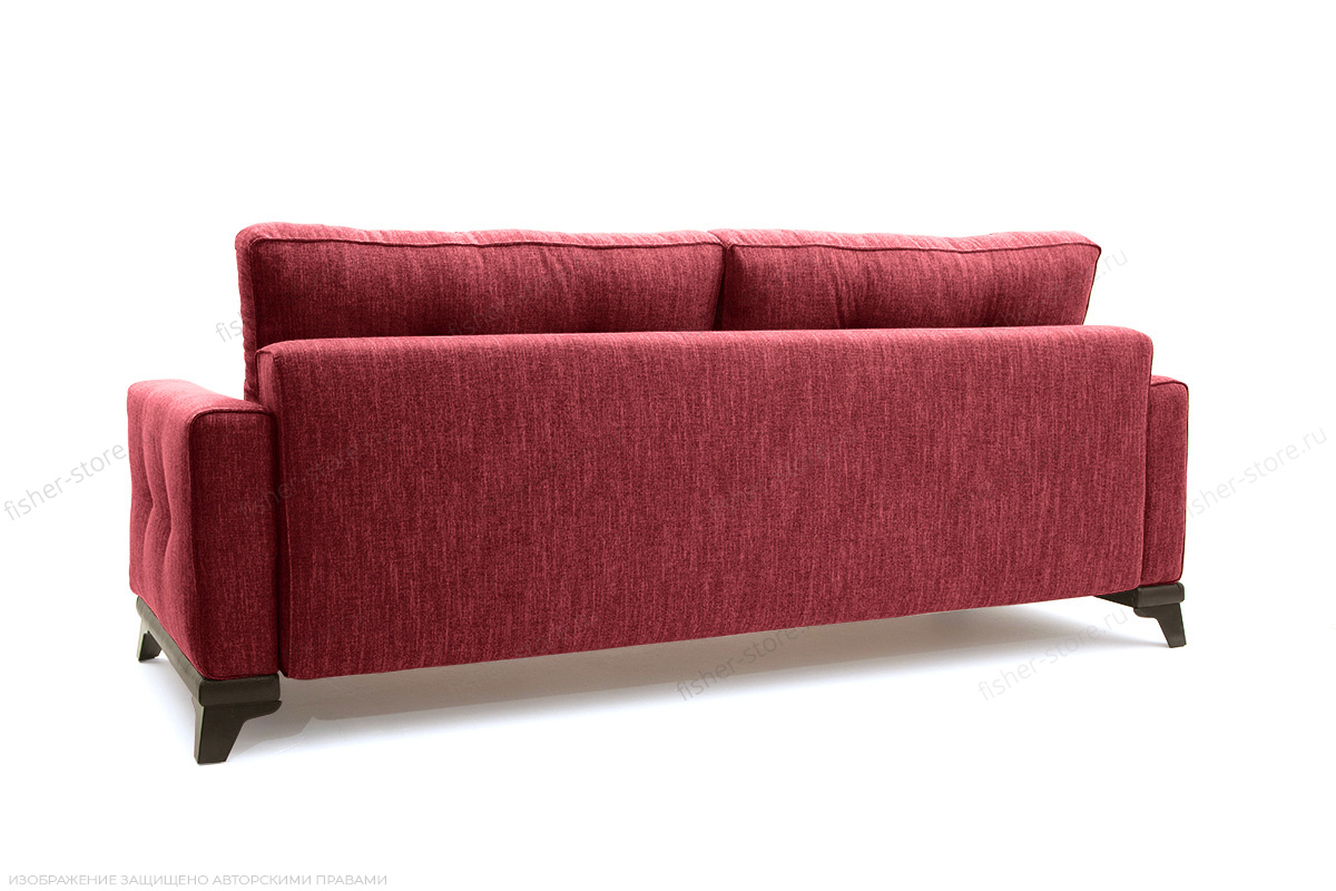 Прямой диван еврокнижка Джерси-5 с опорой №4 Orion Red Вид сзади