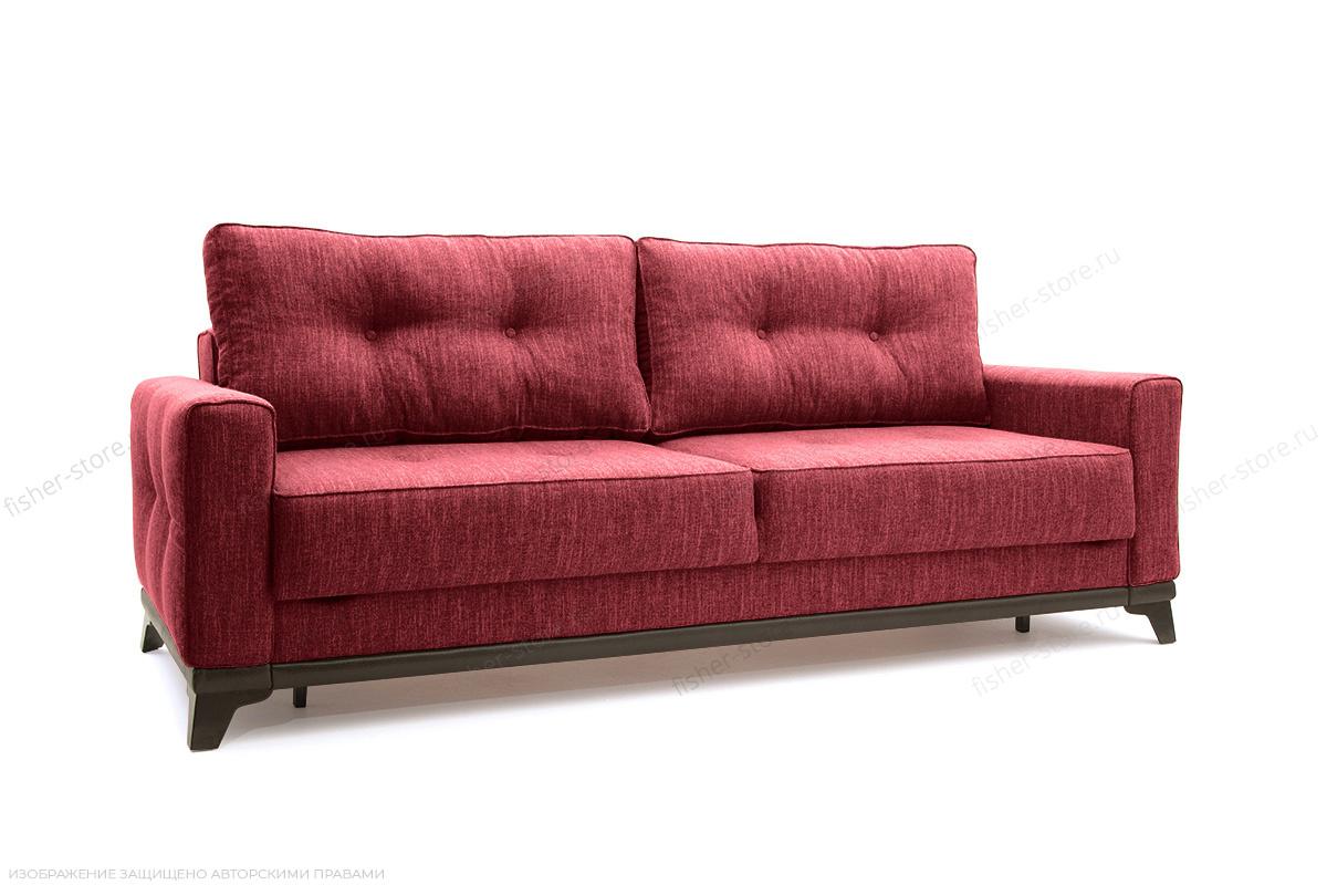 Прямой диван еврокнижка Джерси-5 с опорой №4 Orion Red Вид по диагонали