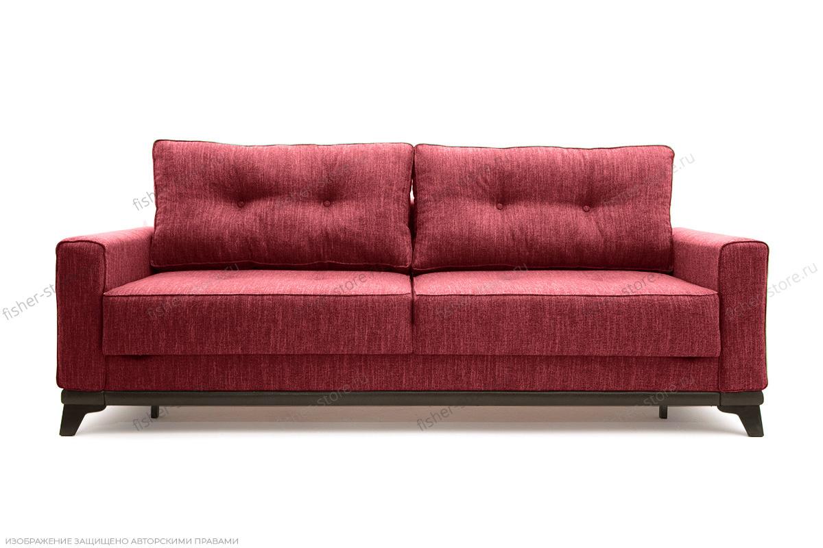 Прямой диван еврокнижка Джерси-5 с опорой №4 Orion Red Вид спереди