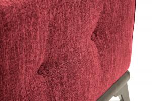 Прямой диван еврокнижка Джерси-5 с опорой №4 Orion Red Текстура ткани