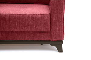 Прямой диван еврокнижка Джерси-5 с опорой №4 Orion Red Ножки