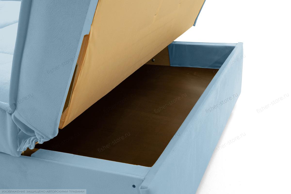 Прямой диван Аккорд-7 с накладками МДФ (120) Amigo Blue Ящик для белья