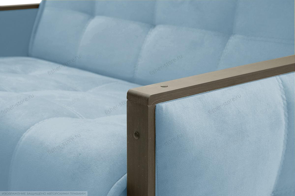 Прямой диван Аккорд-7 с накладками МДФ (120) Amigo Blue Подлокотник