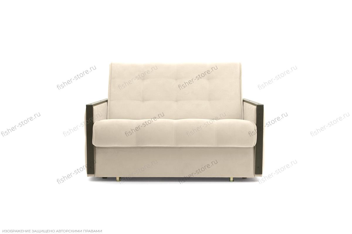 Прямой диван Аккорд-7 с накладками МДФ (120) Amigo Bone Вид спереди