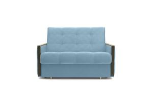 Прямой диван Аккорд-7 с накладками МДФ (120) Amigo Blue Вид спереди
