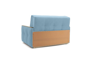 Прямой диван Аккорд-7 с накладками МДФ (120) Amigo Blue Вид сзади