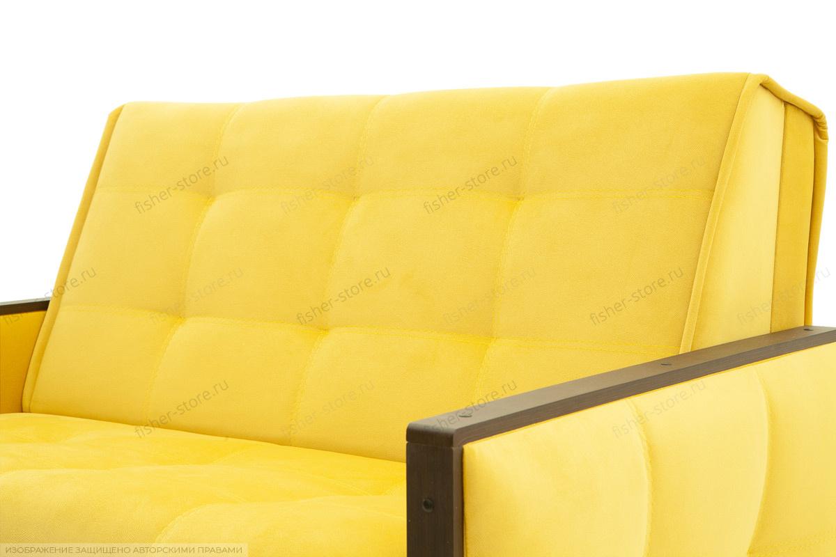Прямой диван Аккорд-7 с накладками МДФ  Amigo Yellow Текстура ткани