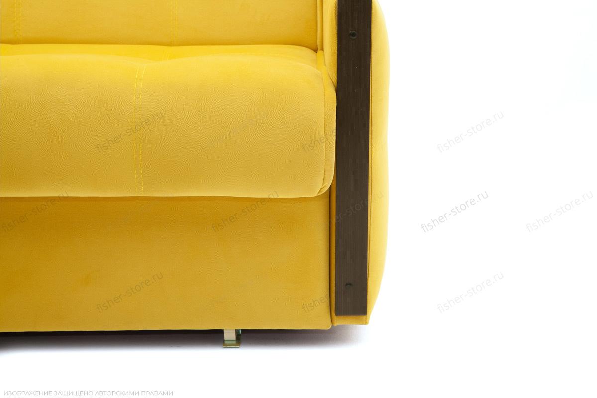 Прямой диван Аккорд-7 с накладками МДФ  Amigo Yellow Ножки