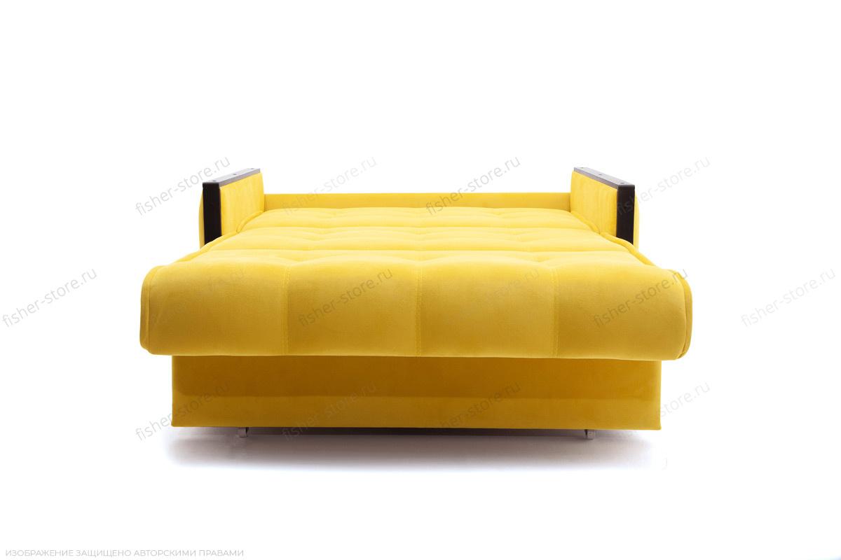 Прямой диван Аккорд-7 с накладками МДФ  Amigo Yellow Спальное место