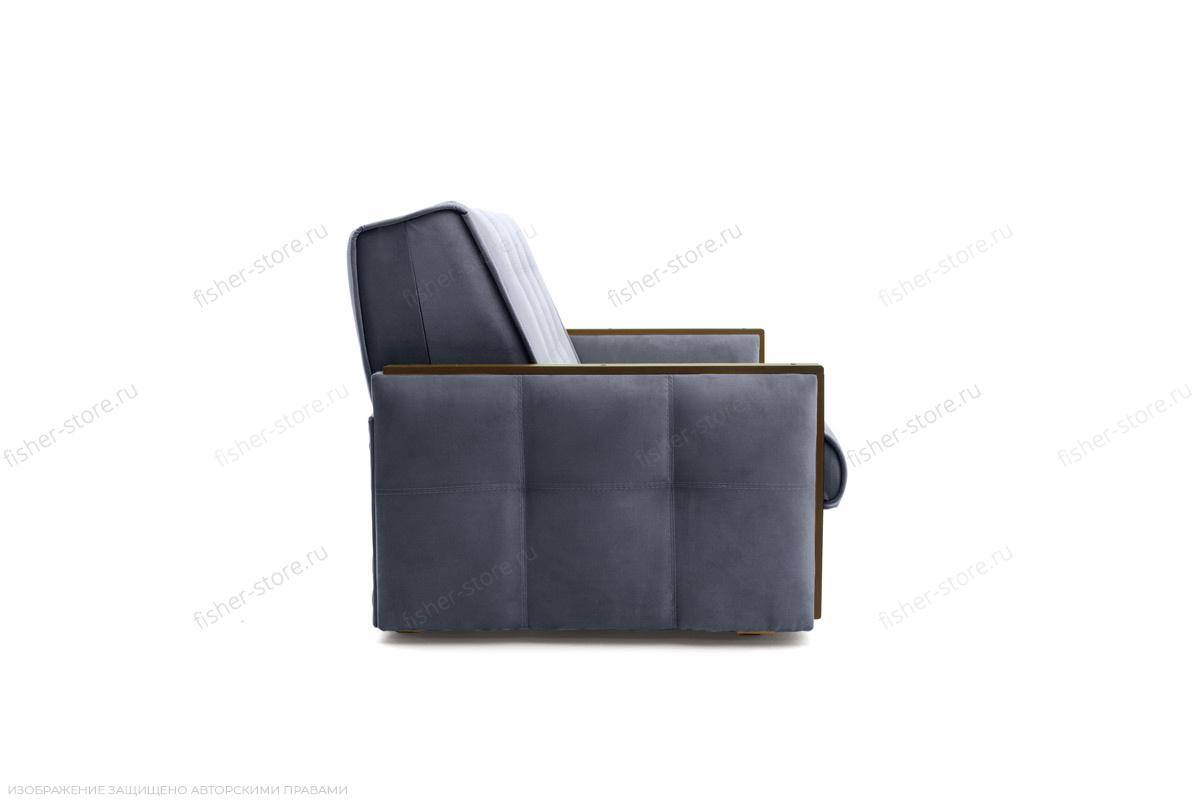 Двуспальный диван Аккорд-7 с накладками МДФ (120) Amigo Navy Вид сбоку