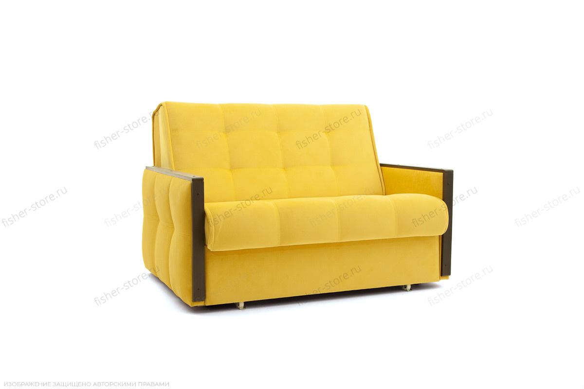Прямой диван Аккорд-7 с накладками МДФ  Amigo Yellow Вид по диагонали
