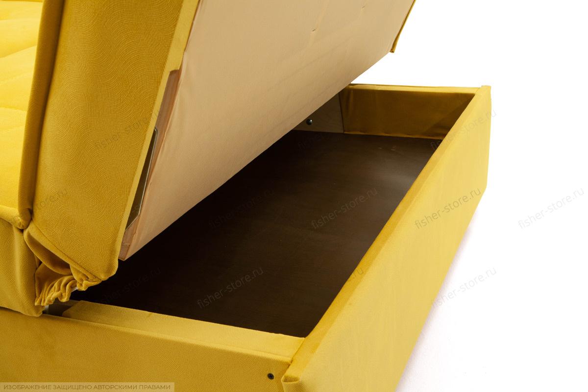 Прямой диван Аккорд-7 с накладками МДФ  Amigo Yellow Ящик для белья
