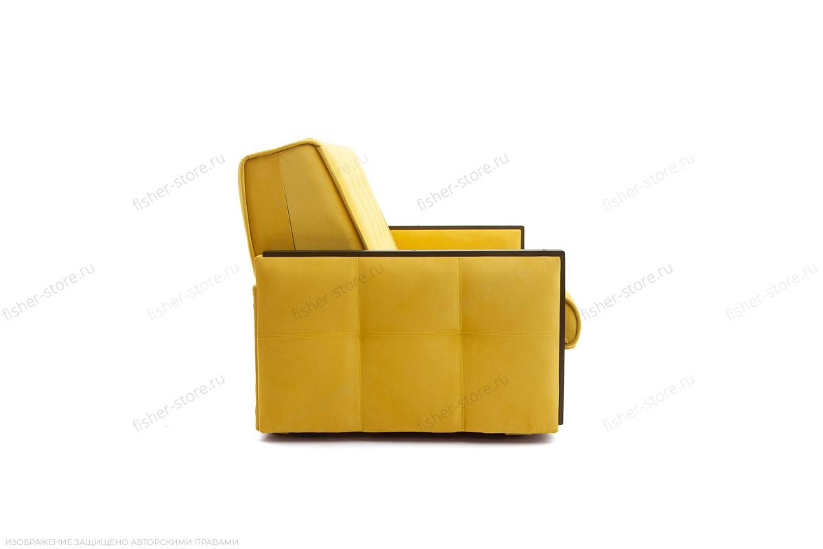 Прямой диван Аккорд-7 с накладками МДФ  Amigo Yellow Вид сбоку