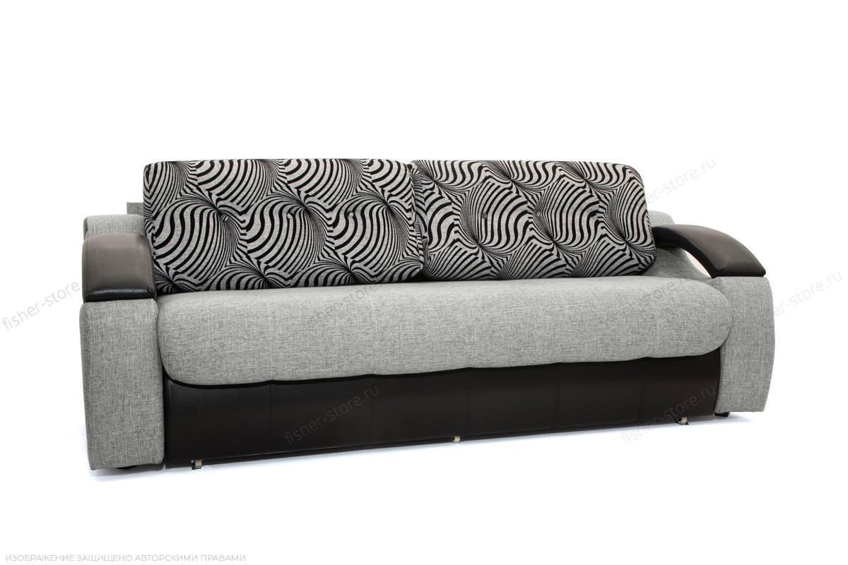 Прямой диван Арена Big Grey + Zebra Вид по диагонали