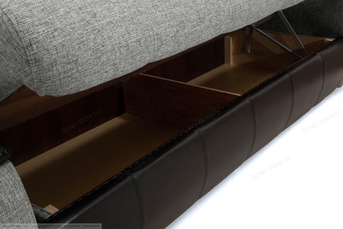 Прямой диван Арена Big Grey + Zebra Ящик для белья