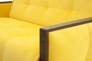 Прямой диван Аккорд-7 с накладками МДФ  Amigo Yellow Подлокотник