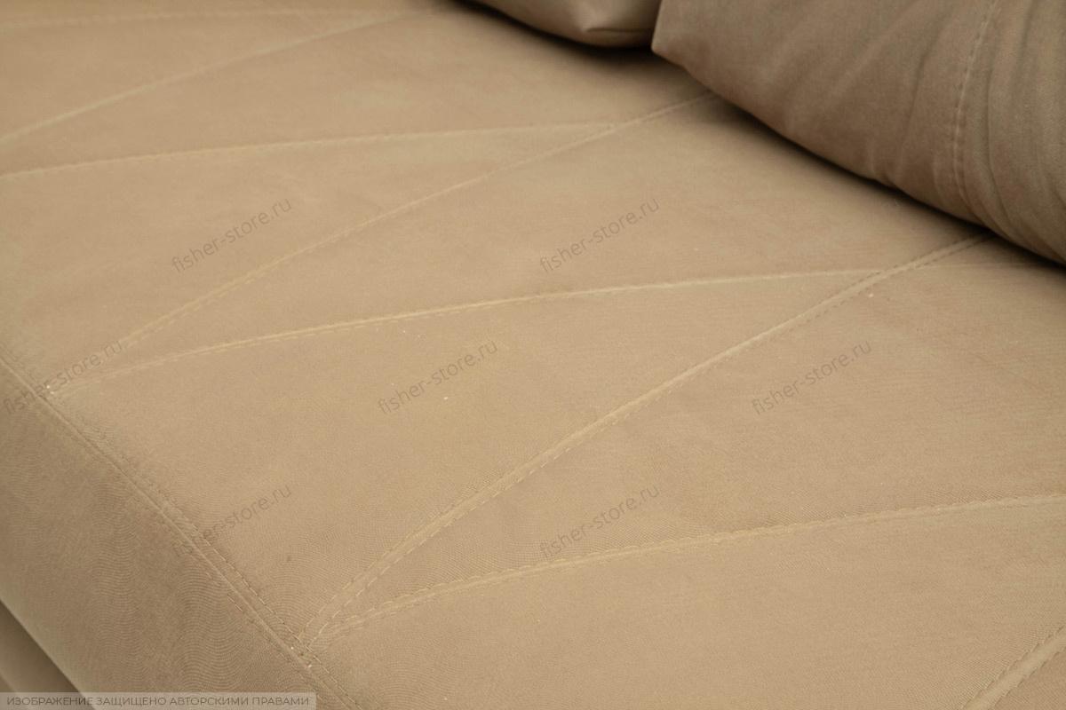 Прямой диван Варшава люкс Maserati Light brown + Alfa 04 Текстура ткани