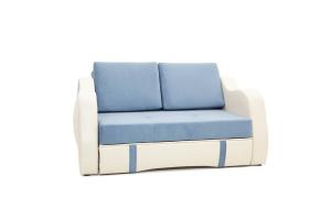 Прямой диван Вико Amigo Blue + Sontex Milk Вид по диагонали
