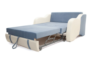 Прямой диван Вико Amigo Blue + Sontex Milk Спальное место
