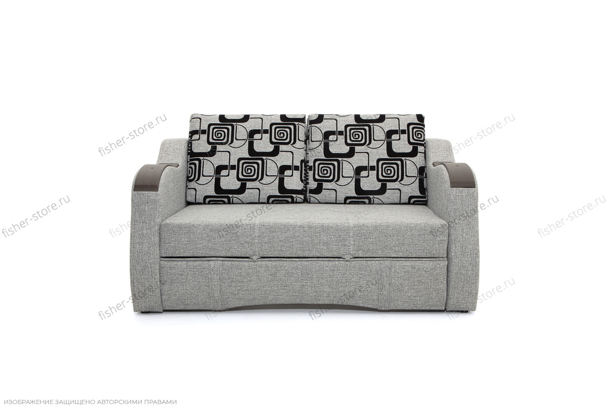Прямой диван Вико-2 Big Grey + TV Вид спереди