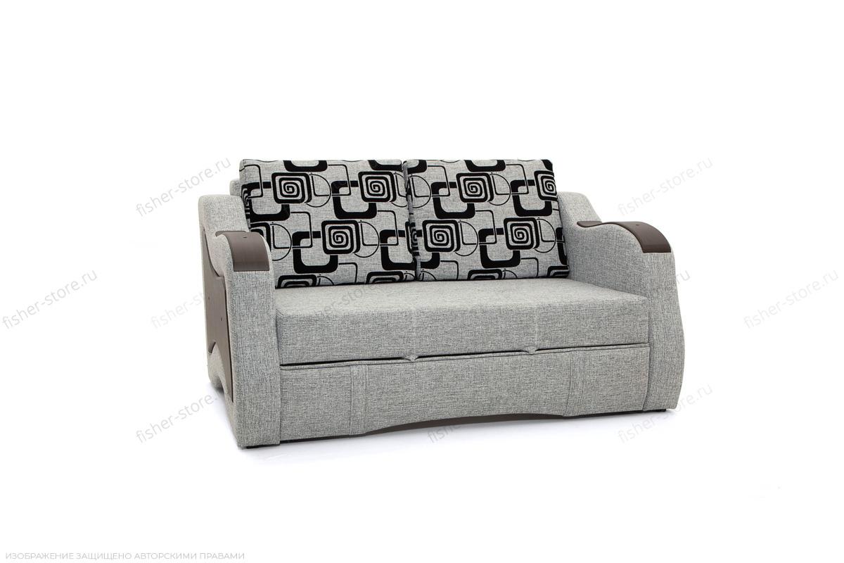 Прямой диван Вико-2 Big Grey + TV Вид по диагонали