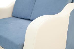 Прямой диван Вико Amigo Blue + Sontex Milk Текстура ткани