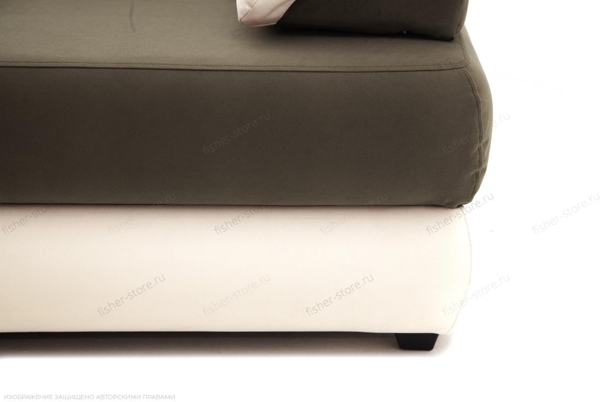 Прямой диван Фиджи Maserati Beige-grey + White Ножки