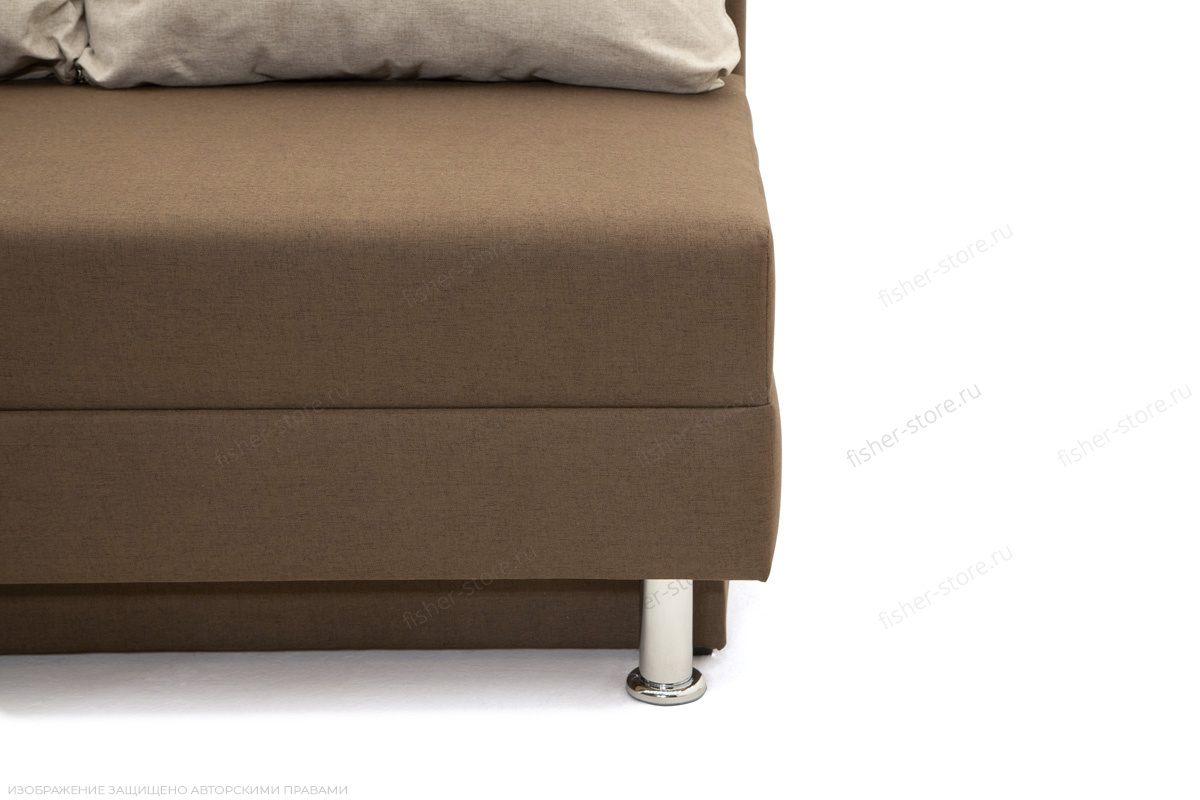 Прямой диван Реал Dream Brown + Dream Beight Ножки