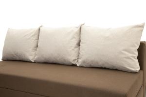 Прямой диван Реал Dream Brown + Dream Beight Подушки