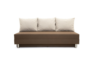 Прямой диван Реал Dream Brown + Dream Beight Вид спереди