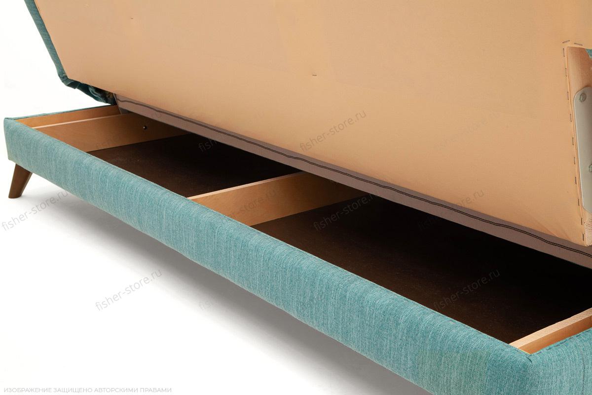 Прямой диван Марсель-3 Orion Blue + Orion Mustard Ящик для белья