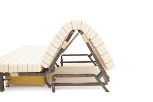 Прямой диван Виа-5 Amsterdam Sepia + Amigo Brown Металлокаркас