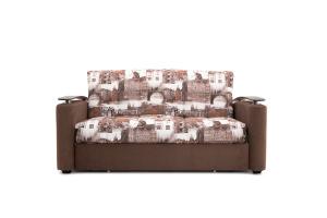 Прямой диван Виа-5 Amsterdam Sepia + Amigo Brown Вид спереди