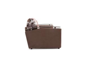 Прямой диван Виа-5 Amsterdam Sepia + Amigo Brown Вид сбоку