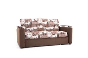 Прямой диван Виа-5 Amsterdam Sepia + Amigo Brown Вид по диагонали