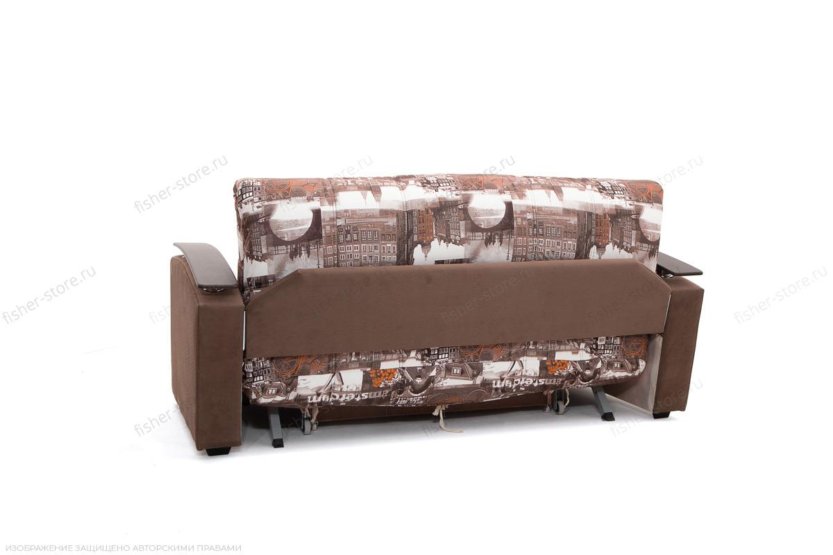 Прямой диван Виа-5 Amsterdam Sepia + Amigo Brown Вид сзади