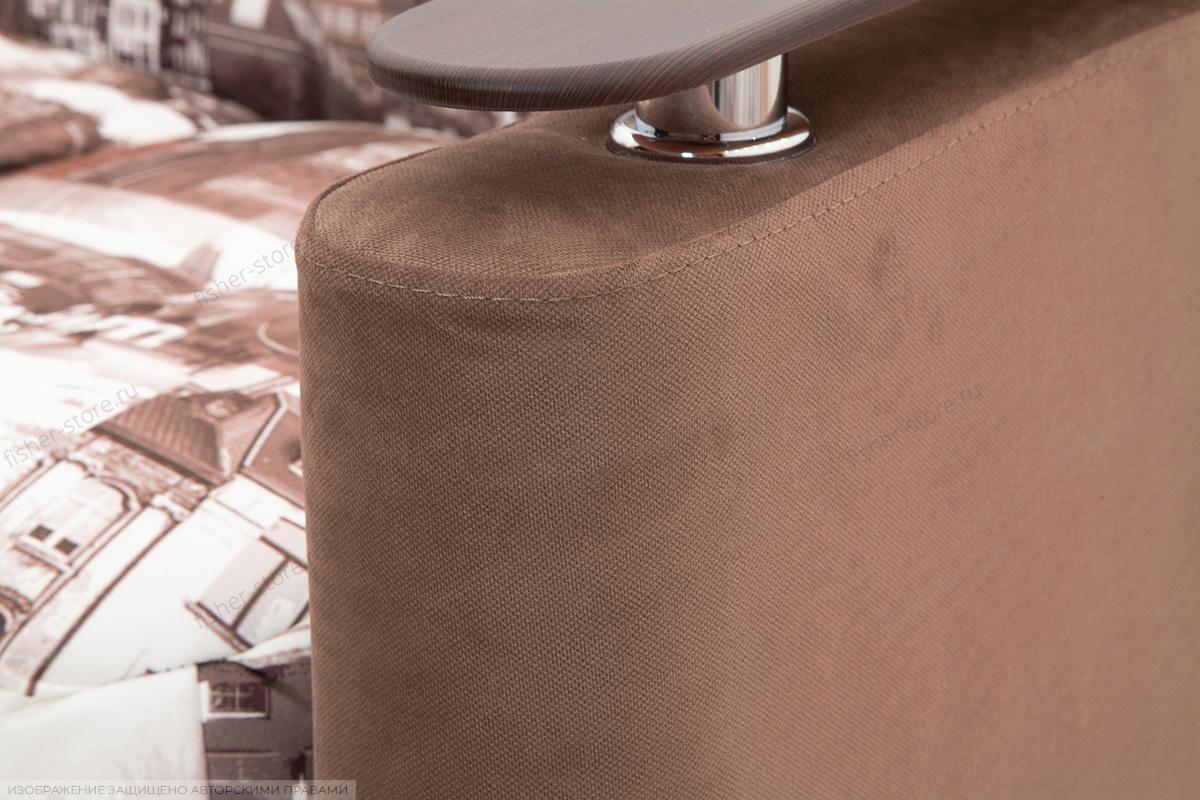 Прямой диван Виа-5 Amsterdam Sepia + Amigo Brown Текстура ткани