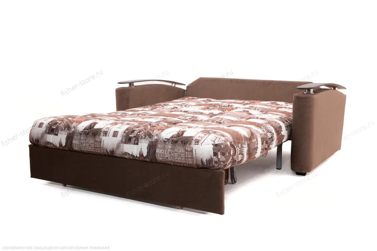 Прямой диван Виа-5 Amsterdam Sepia + Amigo Brown Спальное место