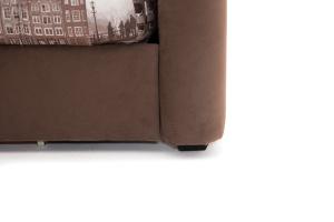 Прямой диван Виа-5 Amsterdam Sepia + Amigo Brown Ножки
