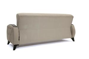 Прямой диван Вито-5 с опорой №7 Amigo Cream Вид сзади