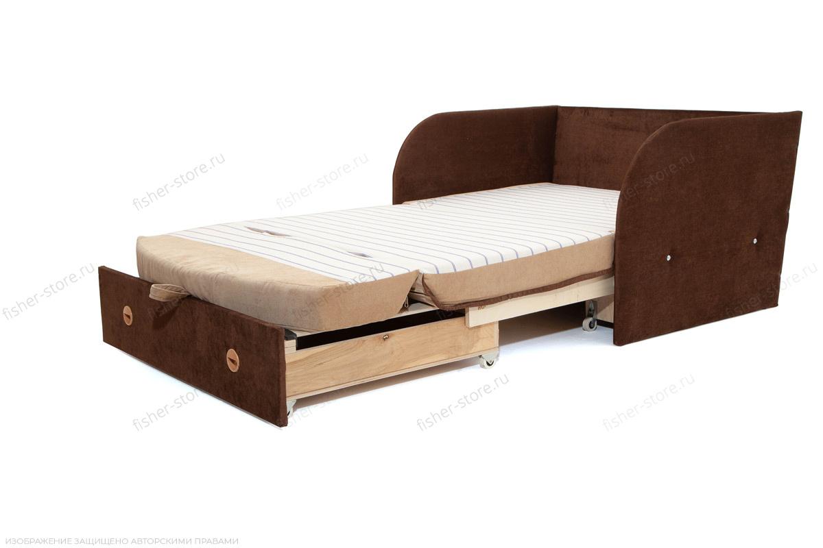 Прямой диван Кроха (100) Energy Beige + Energy Chocolate Спальное место