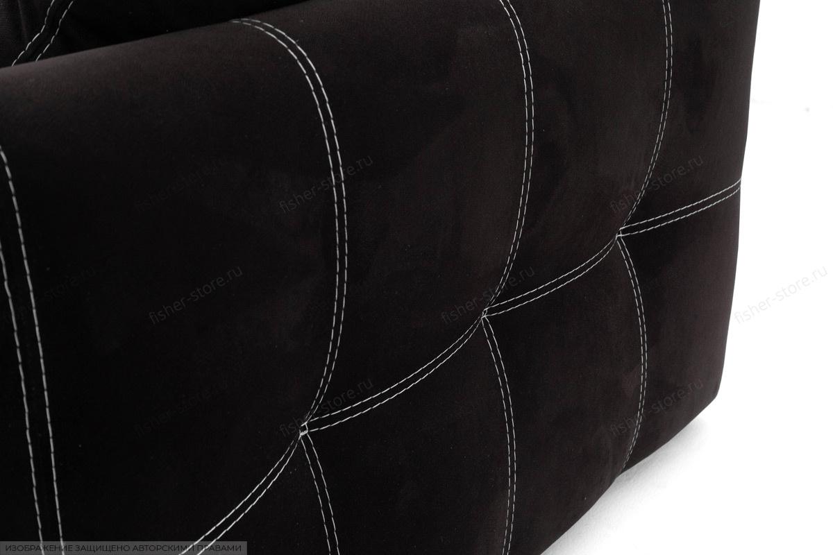 Прямой диван Мадрид люкс Maserati Black + Maserati White Текстура ткани