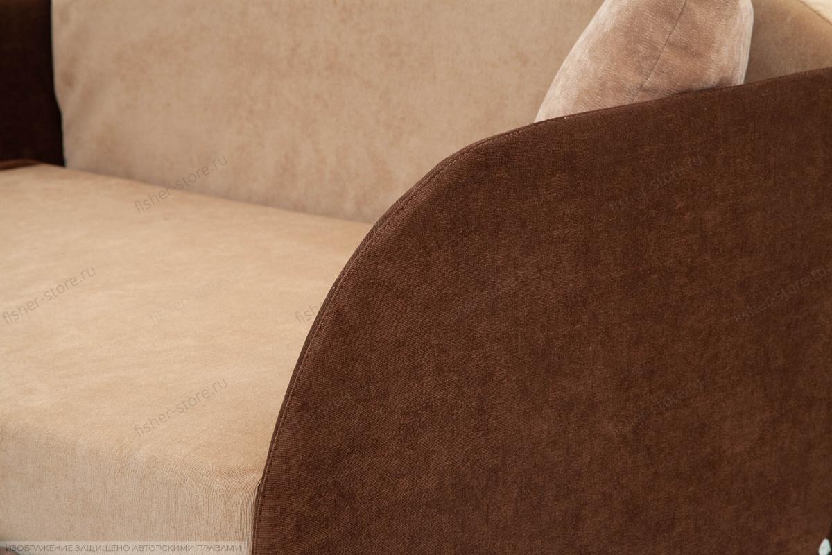 Прямой диван Кроха (100) Energy Beige + Energy Chocolate Текстура ткани